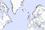 All foreign recoveries of puffins, ringed in the Faroes. Map: Sjúrður Hammer